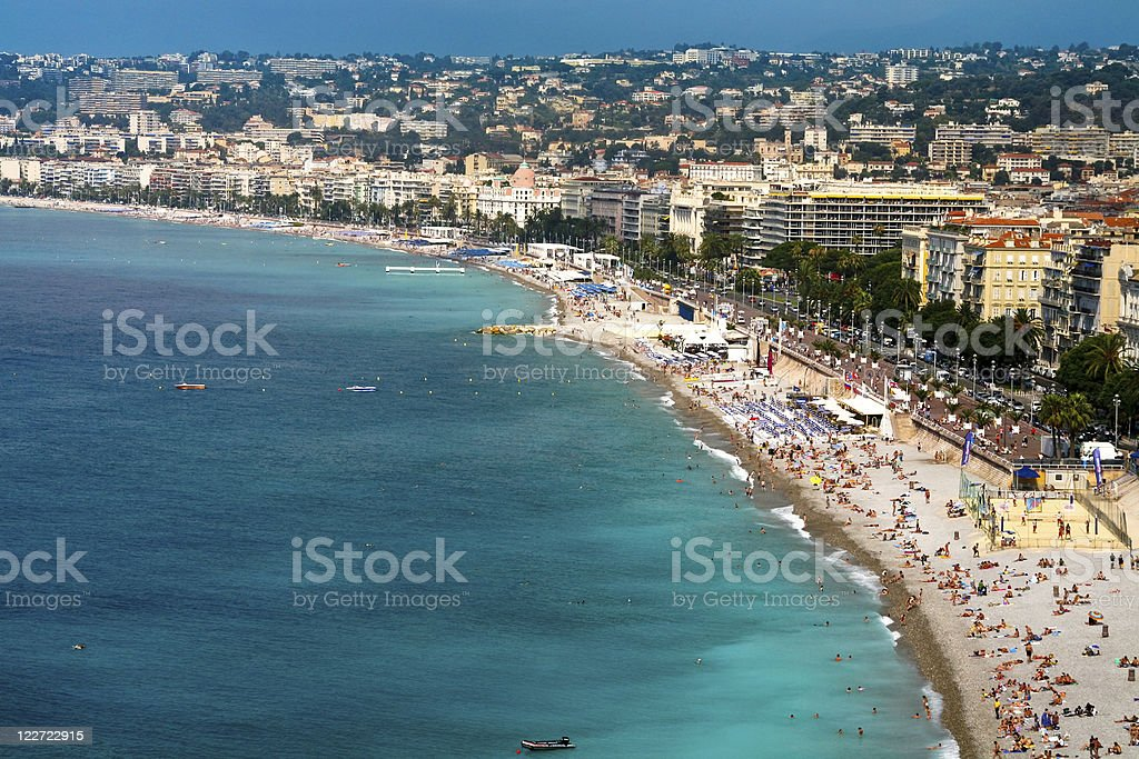 view on Azure coast in Nice royalty-free stock photo