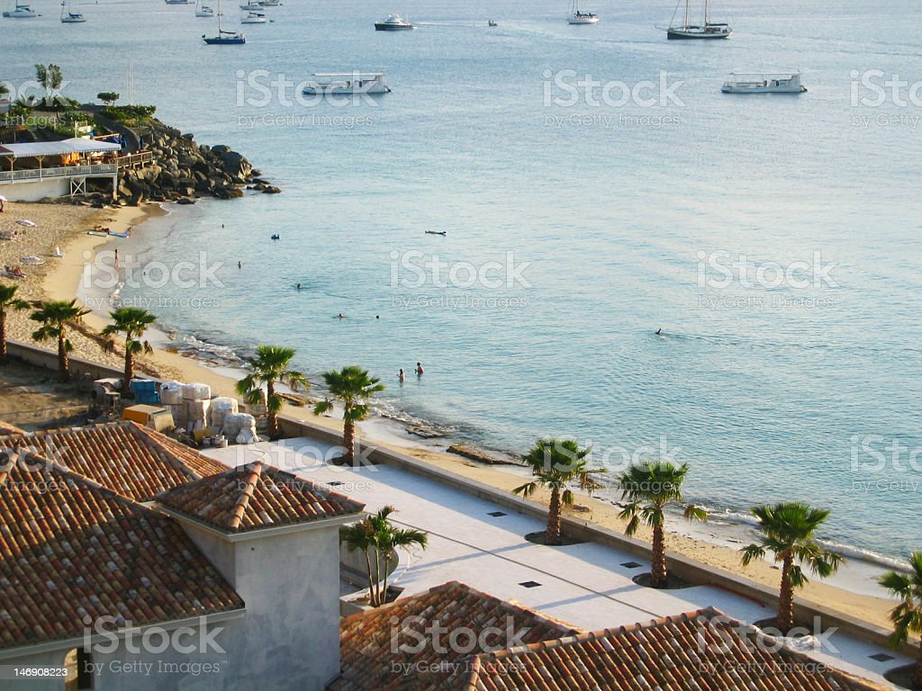View on bay in the caribbean stock photo