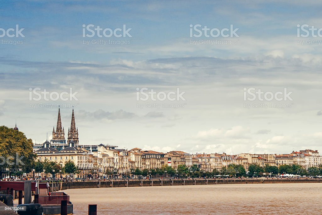 View on Bordeaux stock photo