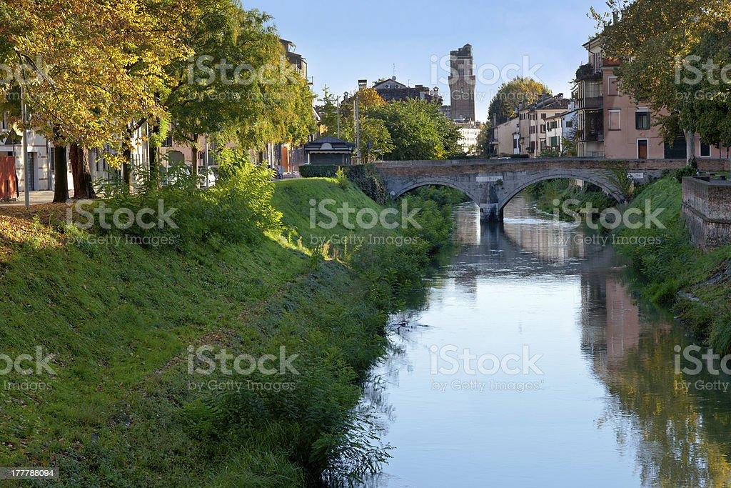 view on bridge in Padua royalty-free stock photo