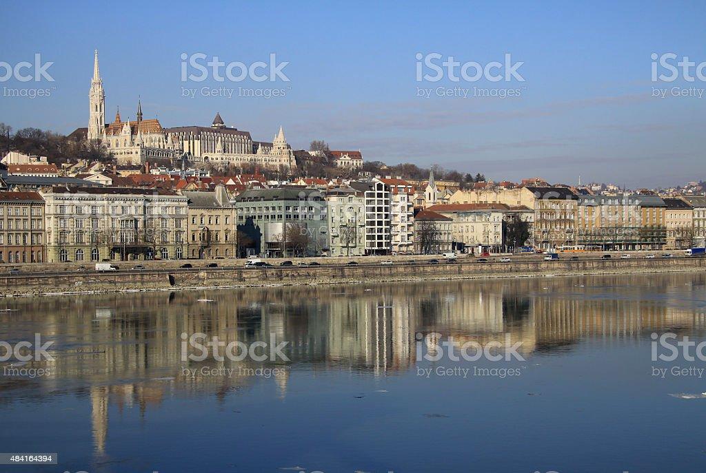 View on Buda bank of Budapest, Hungary stock photo