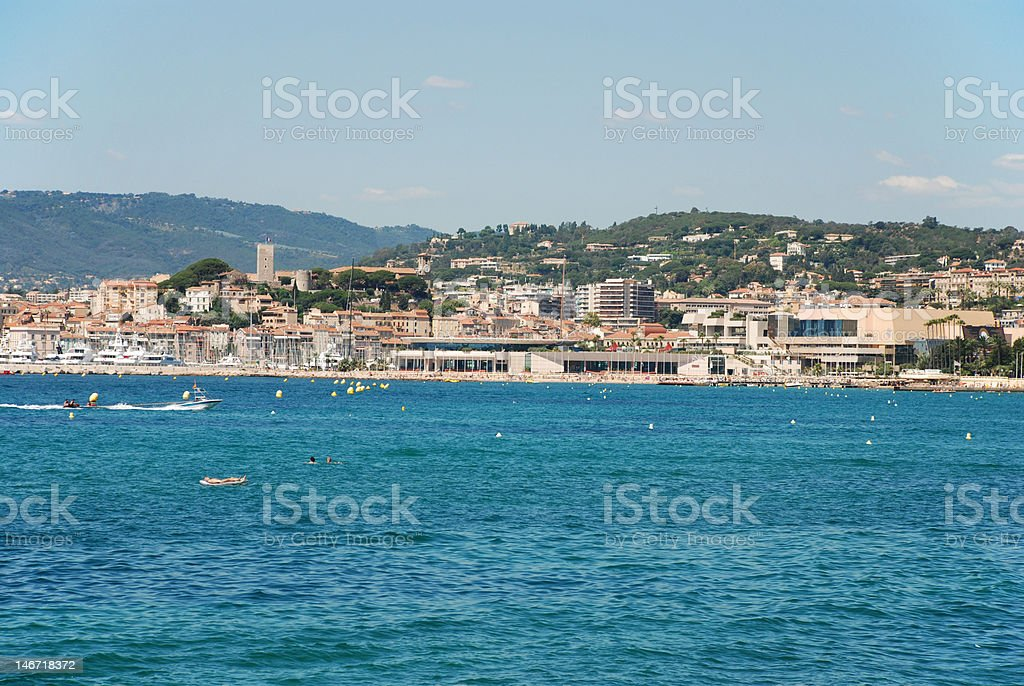 View on Cannes royalty-free stock photo