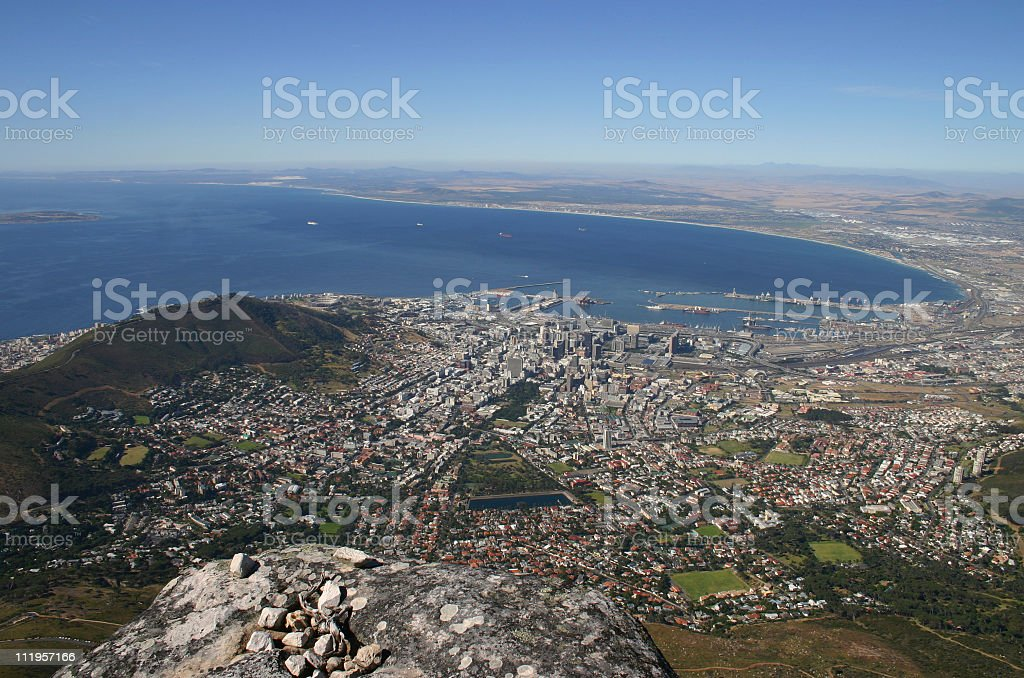 View on Cape Town stock photo