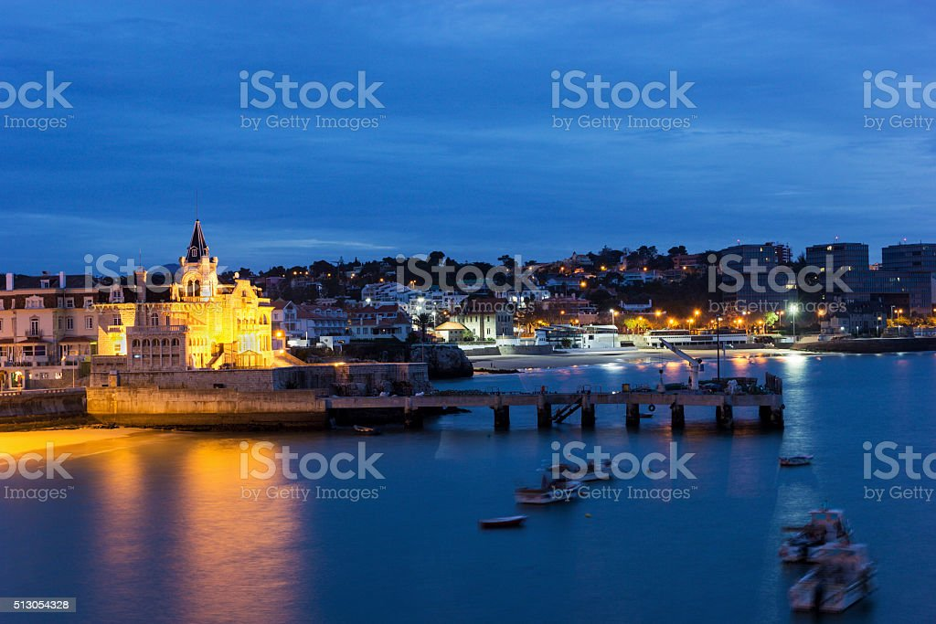 View on Cascais in Portugal stock photo
