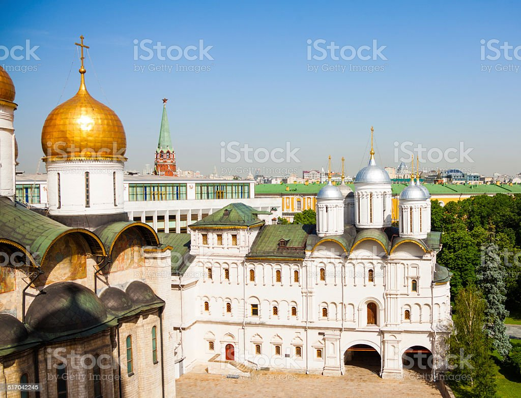 View on Cathedral Square with Patriarch's Palace stock photo