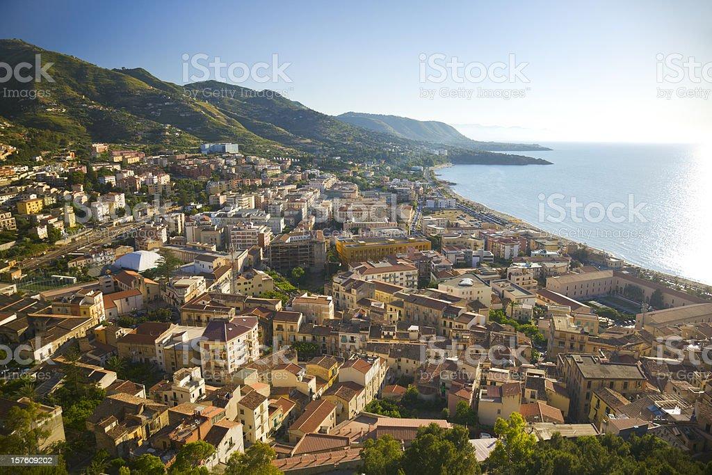 View on Cefalu stock photo