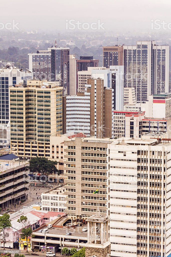 View on central business district of Nairobi royalty-free stock photo