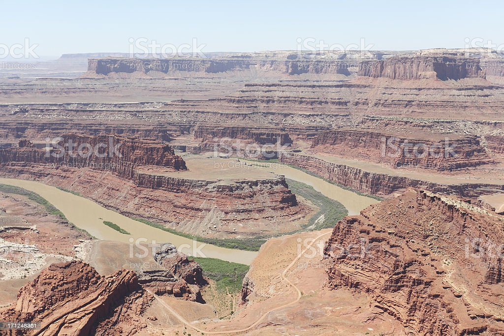 View on Colorado bend from Dead Horse Point Utah USA stock photo