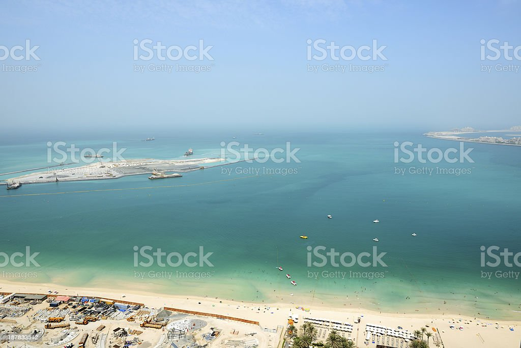 View on construction of 210-metre Dubai Eye stock photo