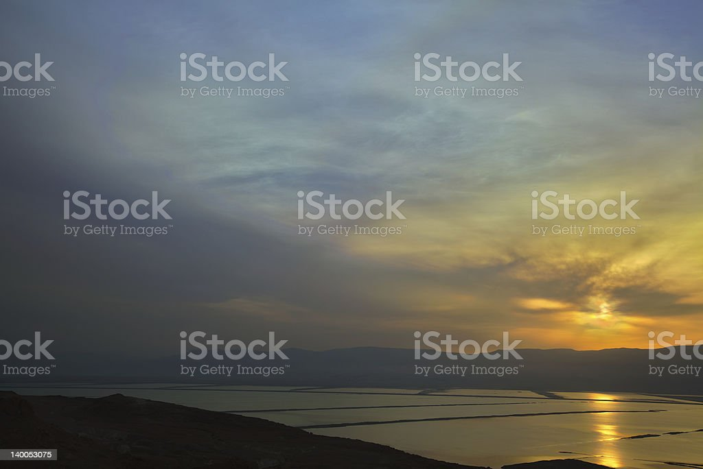 View on Dead Sea at Sunrise royalty-free stock photo