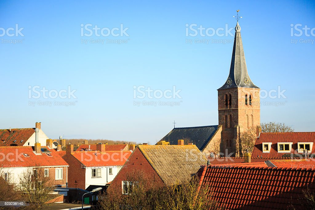 View on Domburg/ Netherlands stock photo