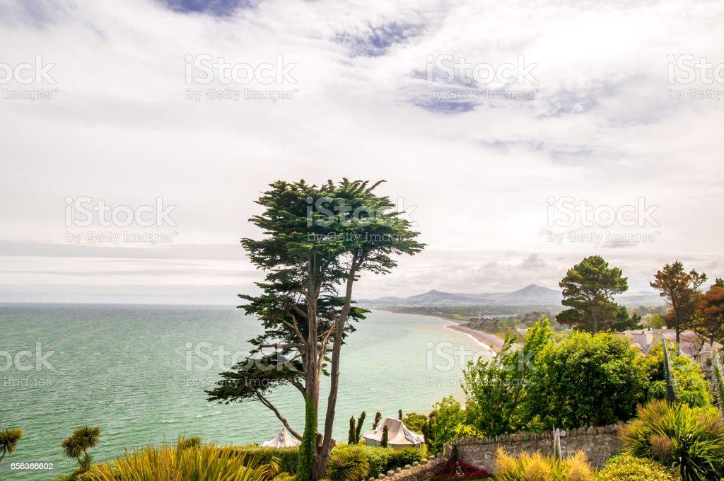 View on Dublin coast by Killiney in Ireland stock photo