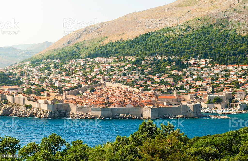 View on Dubrovnik stock photo