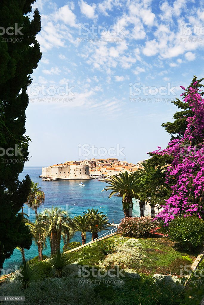 View on Dubrovnik royalty-free stock photo