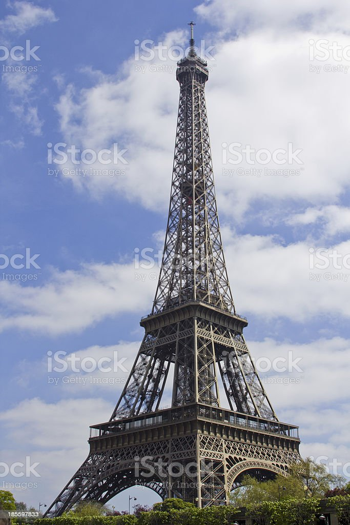 View on Eiffel Tower royalty-free stock photo
