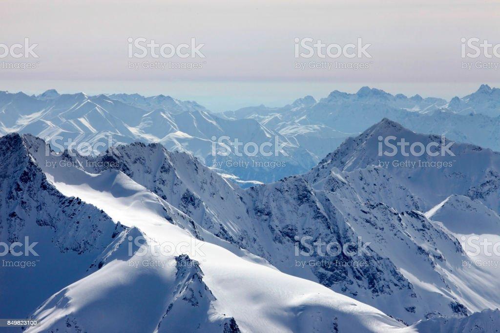 View on Elbrus Mount stock photo
