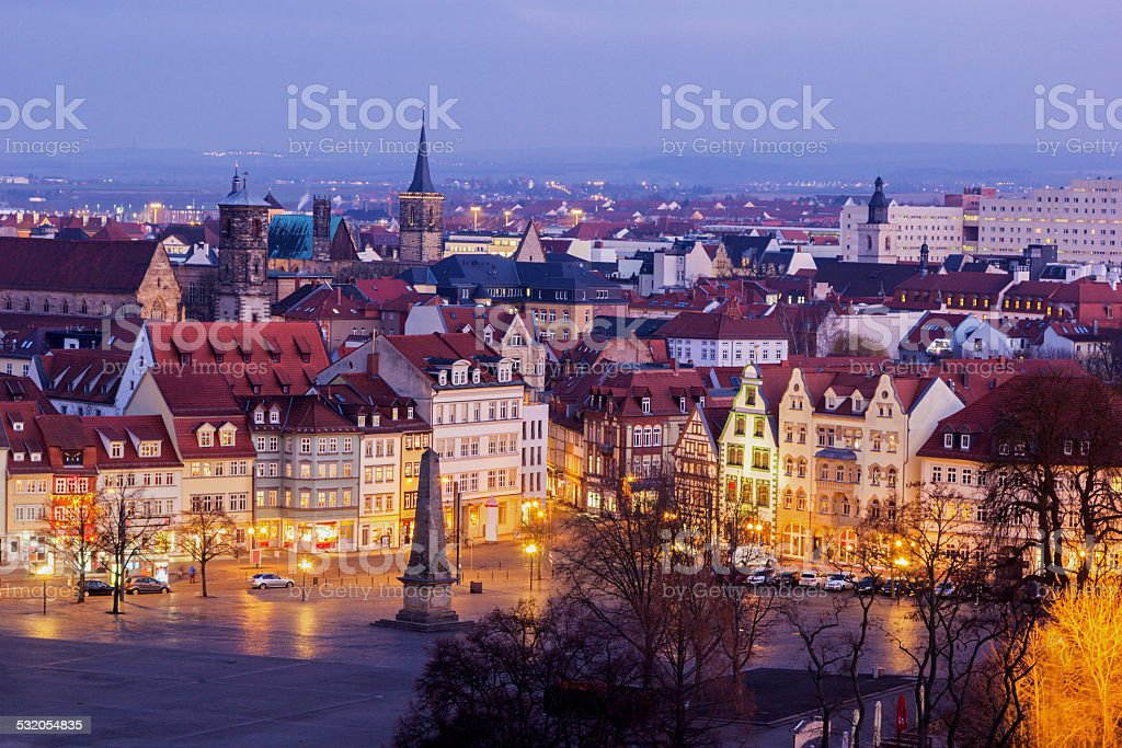 View on Erfurt in Germany stock photo