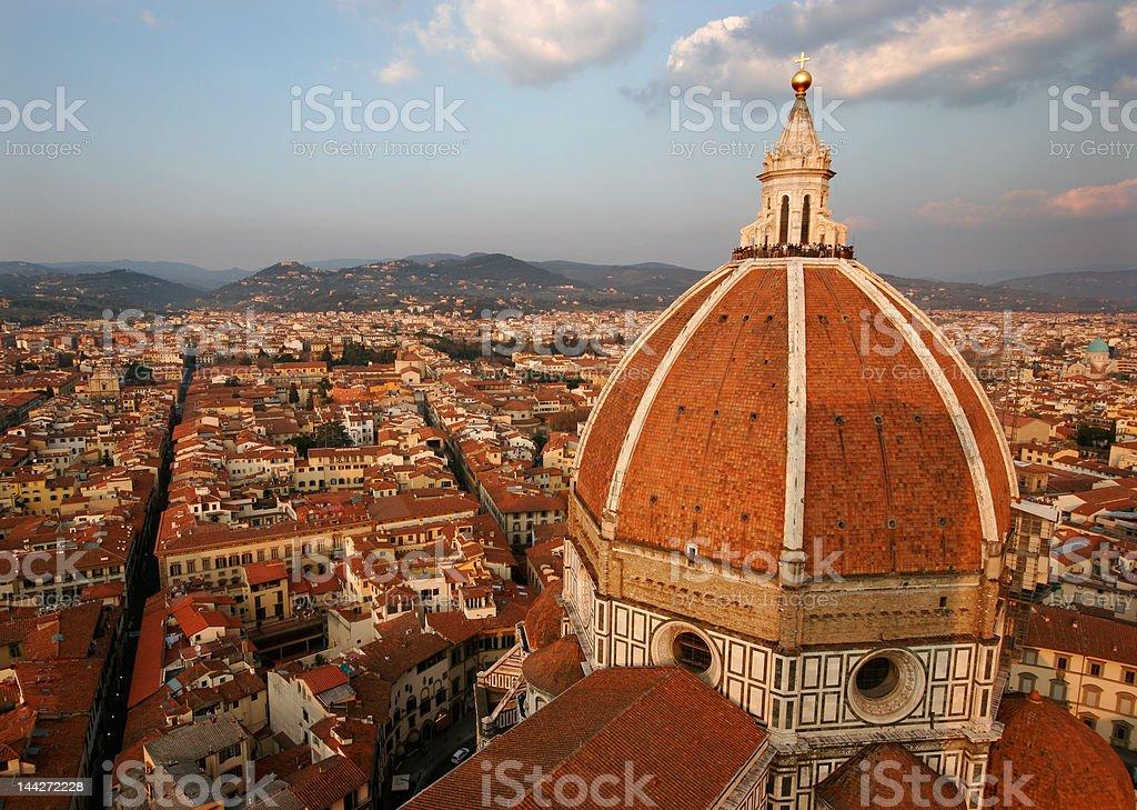 View on Florence Duomo stock photo