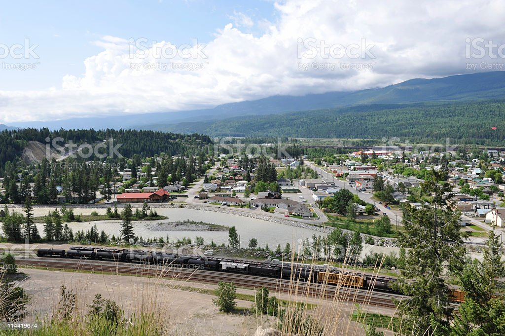 View on Golden,BC,Canada stock photo