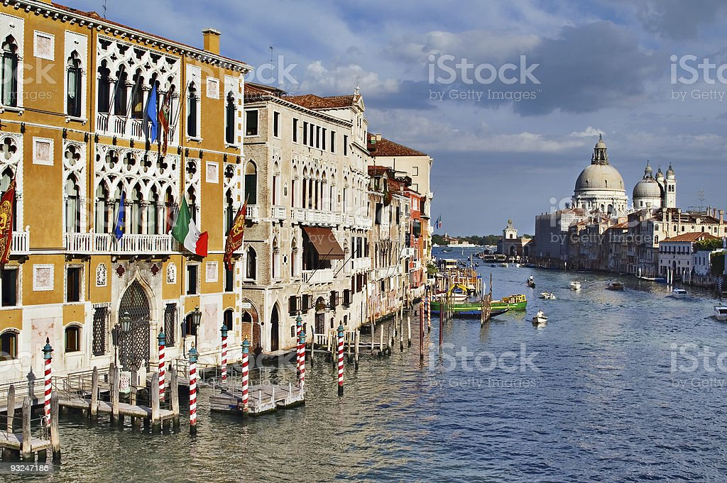 View on Grand Canal from the Academia bridge. Venice, Italy stock photo