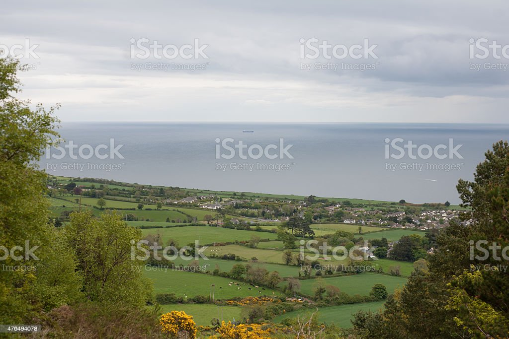 View on Greystones from Kindlestown wood royalty-free stock photo