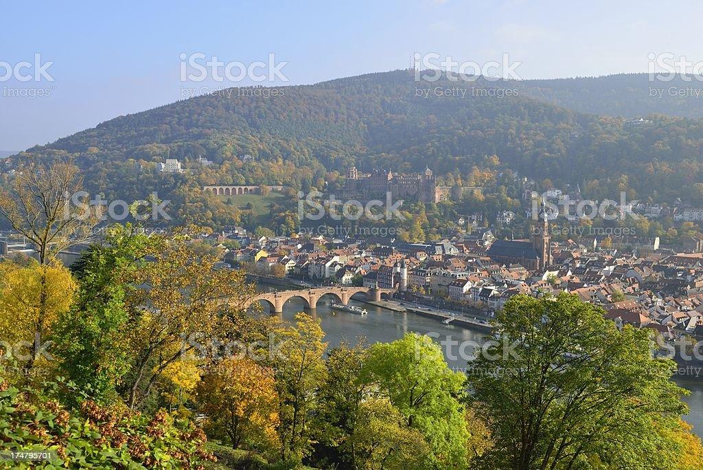 View on Heidelberg royalty-free stock photo