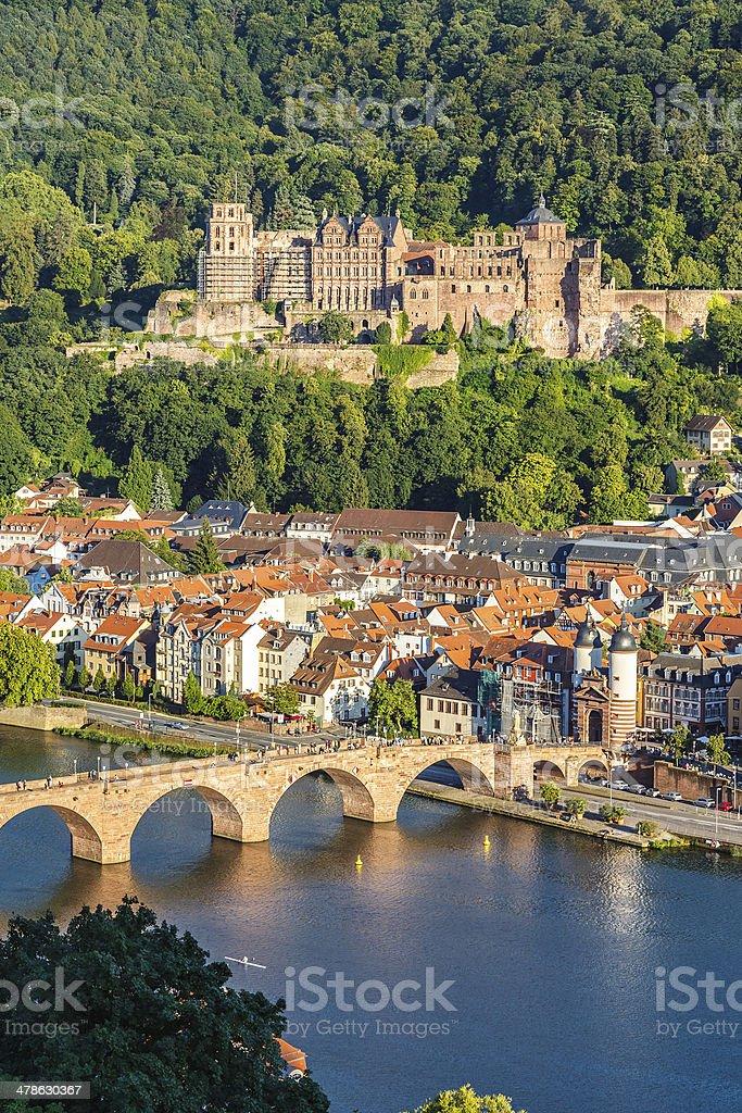 View on Heidelberg stock photo
