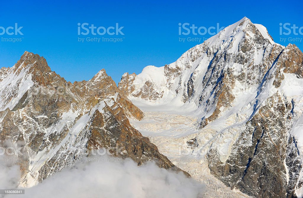 View on height mountains peak royalty-free stock photo