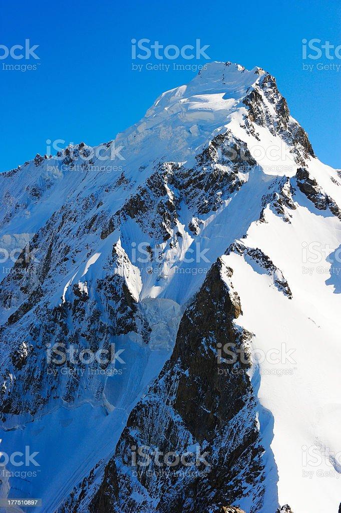 View on height mountains peak royalty-free stock photo