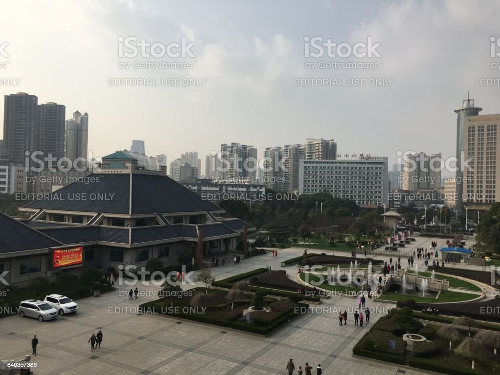 View on Hubei Provincial Museum stock photo