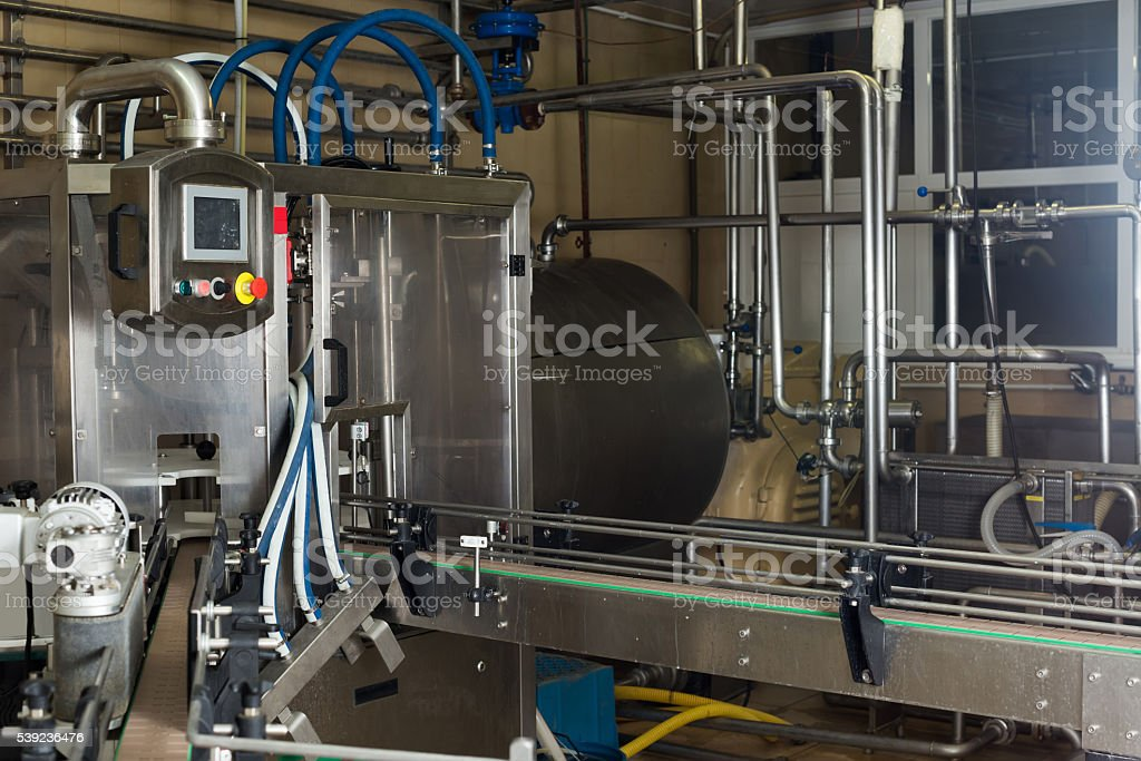 view on industrial dairy production gear stock photo