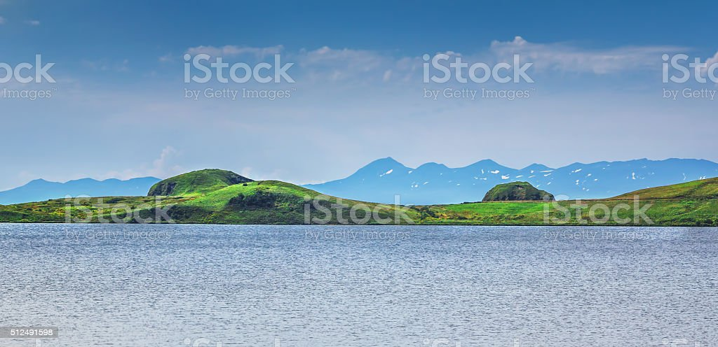 View on Japan from Russian Island stock photo