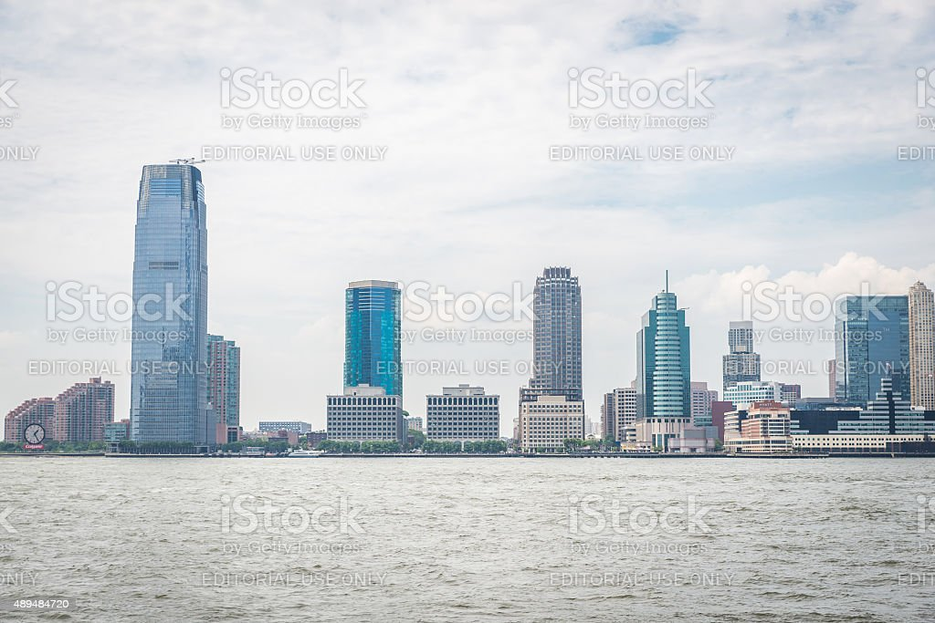 View on Jersey City stock photo