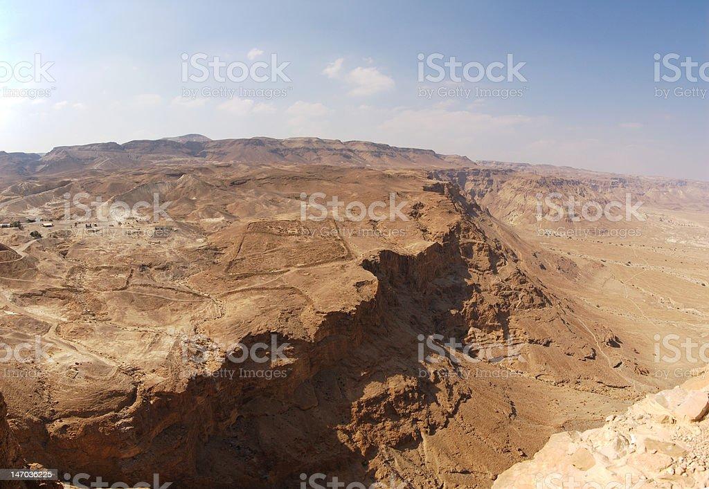 view on Judea desert stock photo