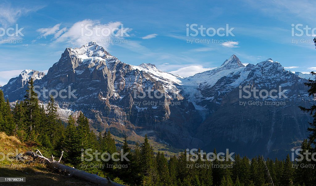 view on Junrfrau mountain massive royalty-free stock photo