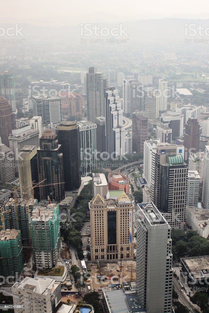 View on Kuala Lumpur from Menara Tower stock photo