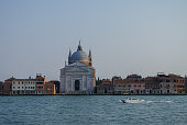 View on La Giudecca island with basilica del Redentore