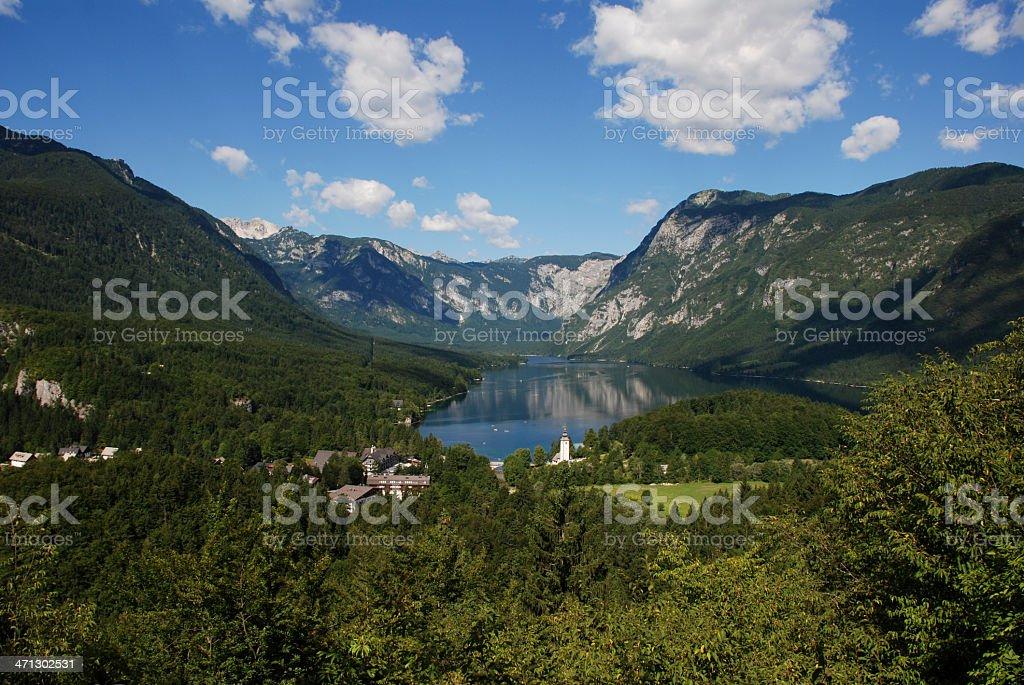 View on lake Bohinj royalty-free stock photo