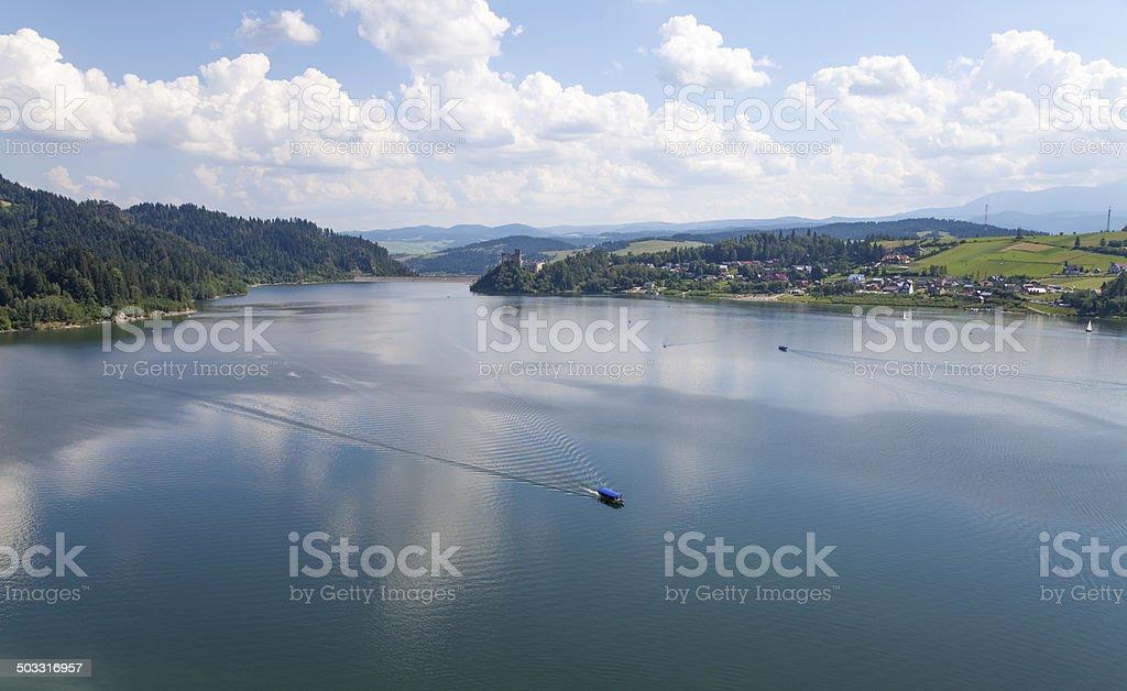 View on lake stock photo
