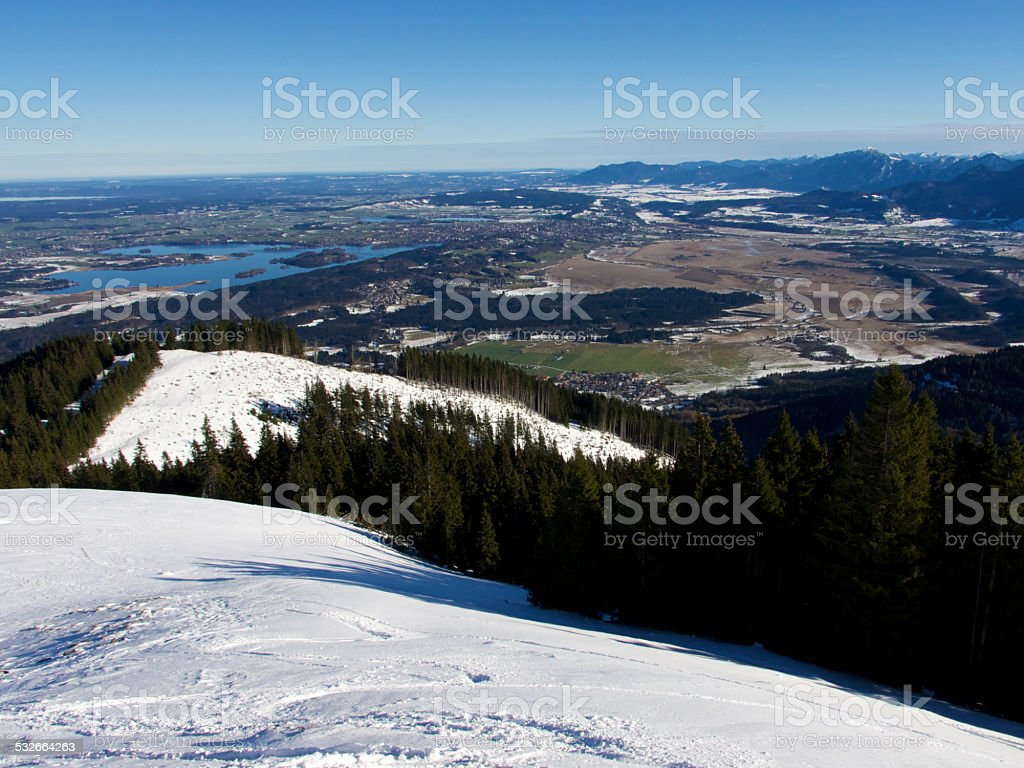View on Lake Staffelsee in Bavaria stock photo