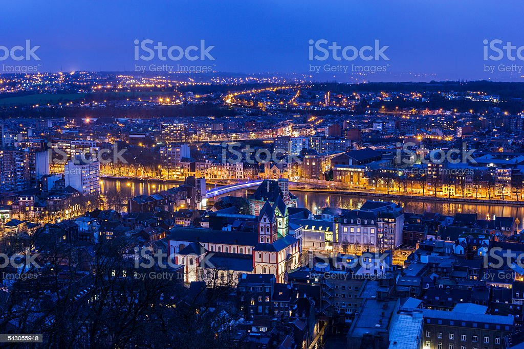 View on Liege in Belgium stock photo