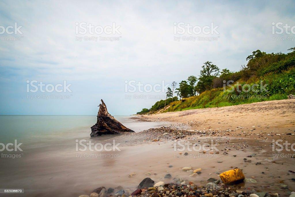 View on Liepaja coastline, Latvia stock photo