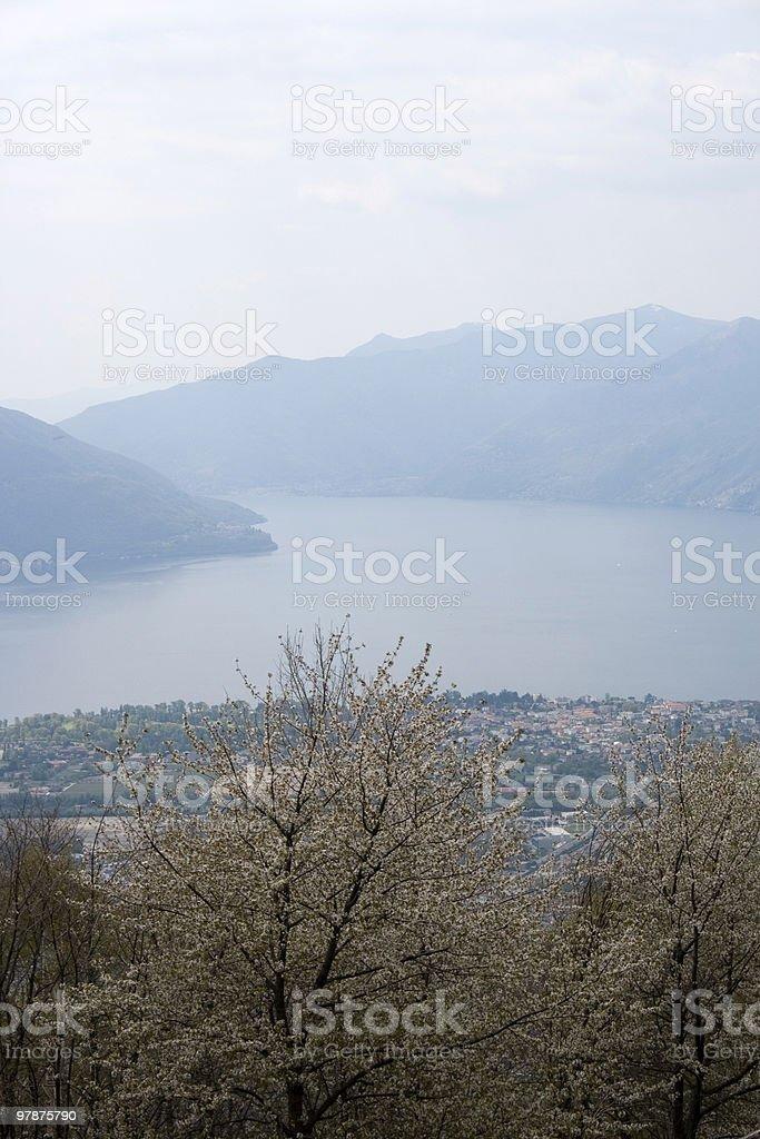 view on Locarno Lake ( Switzerland) stock photo