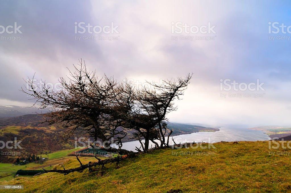 View on Loch Rannoch royalty-free stock photo