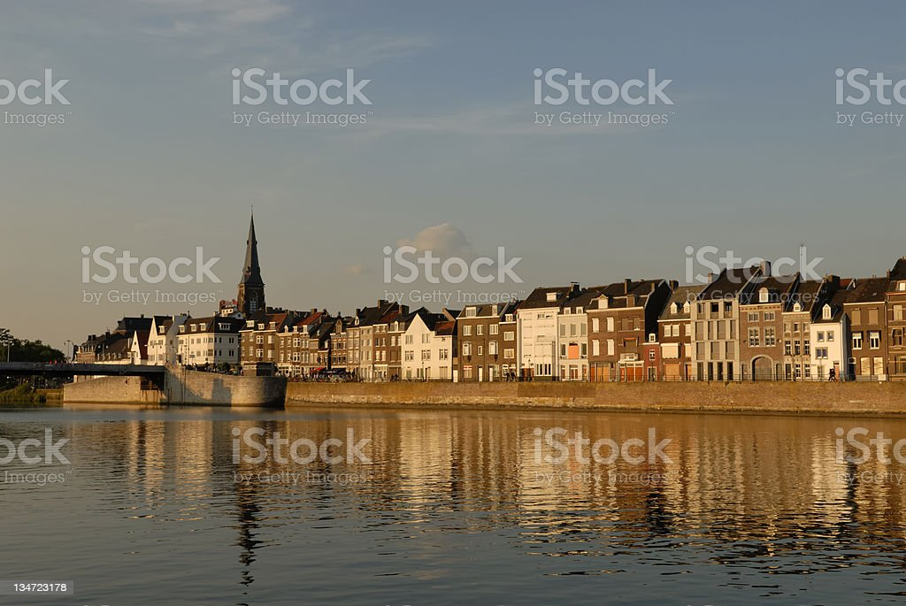 View on Maastricht stock photo