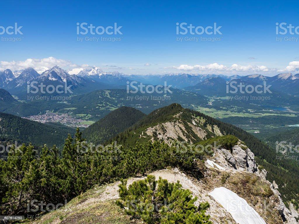 View on Mittenwald stock photo
