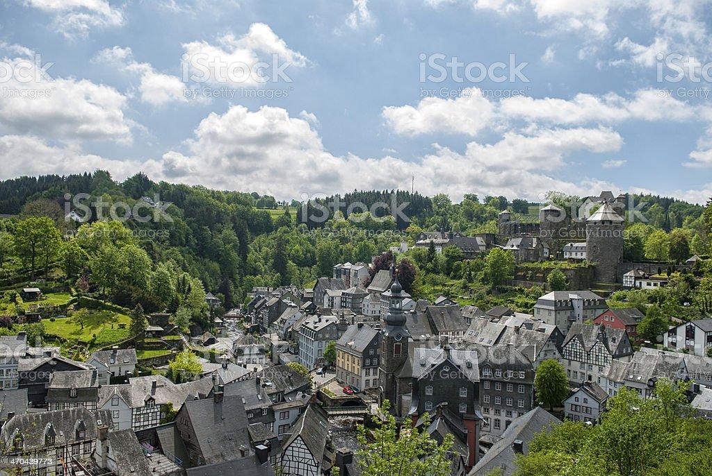 View on Monschau stock photo