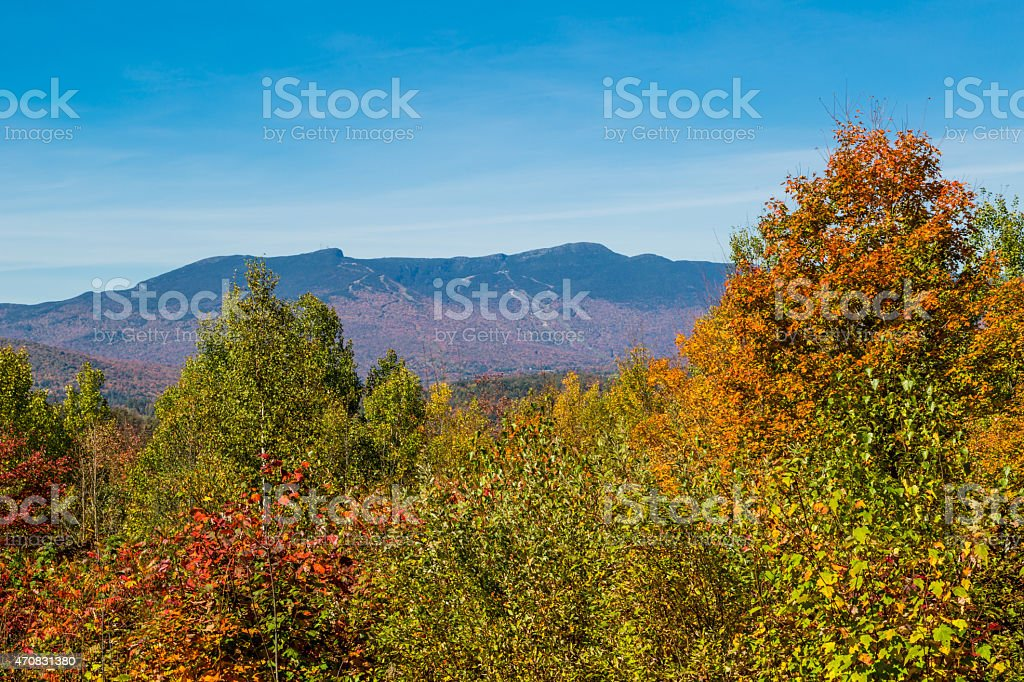 View on Mount Mansfield stock photo