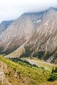 View on mountain peaks, Tien Shan