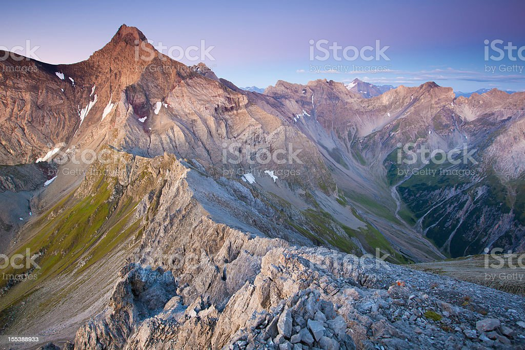 view on mt. parseierspitze royalty-free stock photo